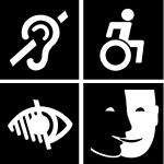 handicap mental ou cognitif, handicap visuel, handicap auditif, handicap moteur