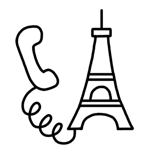 Un centre d'écoute à Paris.