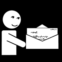 J'écris un courrier.
