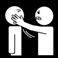 La personne me gifle.
