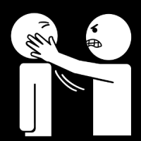 Une persone me gifle.