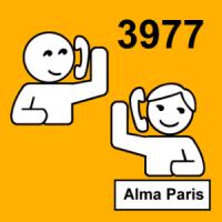 J'appelle Alma Paris. Le numéro d'Alma Paris est le 3977.