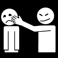 La personne me touche le visage et je ne veux pas.
