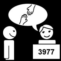 Une personne est là pour m'aider au 3977.